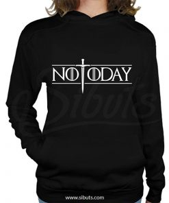 Sudadera gorro mujer not today arya game of thrones