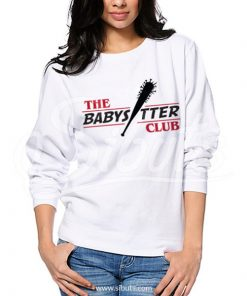 Sudadera cuello redondo blanca mujer Stranger Things The Babysitter Club
