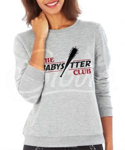 Sudadera cuello redondo gris mujer Stranger Things The Babysitter Club