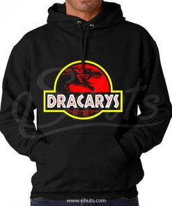 Sudadera gorro hombre Dracarys Game of thrones jurassic park