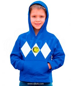 Sudadera gorro niño Power Ranger Azul