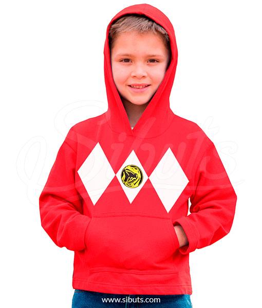 Sudadera gorro niño Power Ranger Rojo