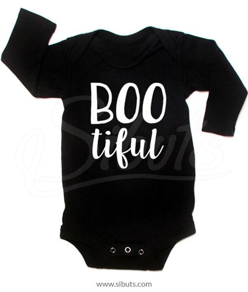 Pañalero negro manga larga bebé Bootiful