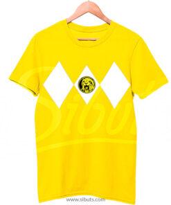 Playera hombre power ranger amarillo