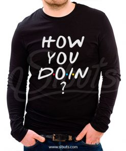 playera hombre manga larga serie friends how you doin