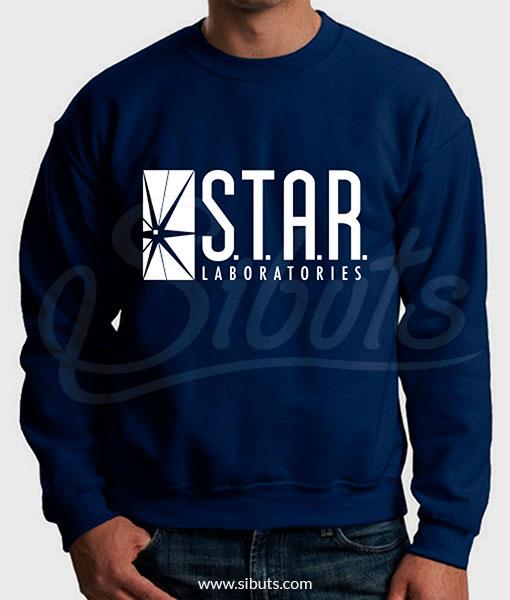 Sudadera cuello redondo hombre Star Laboratories Azul Marino