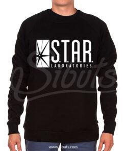 Sudadera cuello redondo hombre Star Laboratories negra