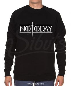 Sudadera cuello redondo hombre not today arya game of thrones