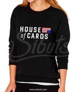 Sudadera cuello redondo mujer House of cards Underwood