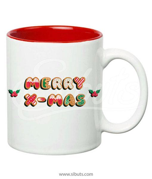 Taza de navidad merry xmas