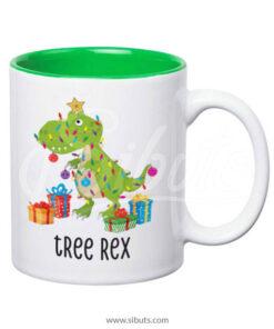 Taza de navidad tree rex