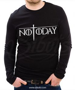 Playera manga larga hombre not today game of thrones