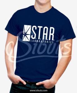 Playera hombre Star Labs Azu marino