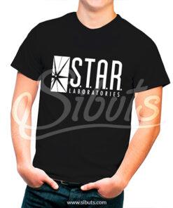 Playera hombre Star Labs Negra