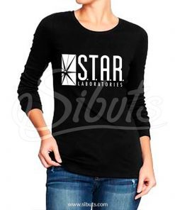 Playera manga larga mujer star labs flash