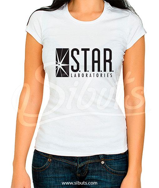 Playera mujer star labs flash