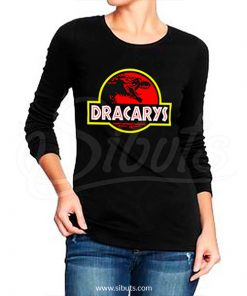 Playera manga larga mujer dracarys game of thrones