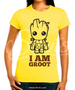 Playera mujer I Am Groot Guardianes de la Galaxia