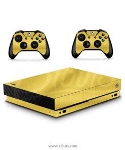 Skin Xbox One X Oro cepillado Gold