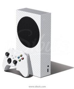 Skin Xbox Series S Fibra carbono blanco