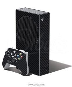 Skin Xbox Series S Fibra carbono negro