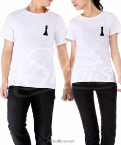 Playera para pareja novios queen and king ajedrez