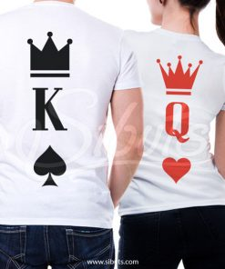 Playera para pareja novios queen and king poker