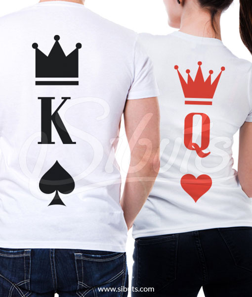Playera para pareja novios queen and king poker