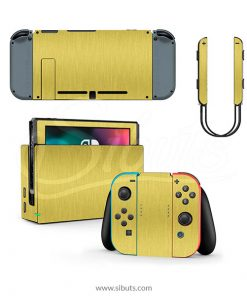 Skin Nintendo Switch Oro Cepillado