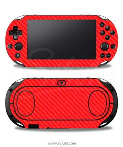 Skin Ps Vita Fat Fibra Carbono Rojo