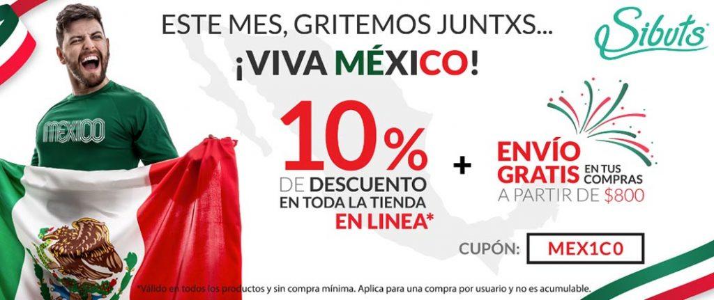 Banner sibuts día de la independencia México