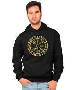 sudadera con gorro hoodie hombre serie vikingos vikings