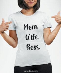 Playera para dama Mom Wife Boss