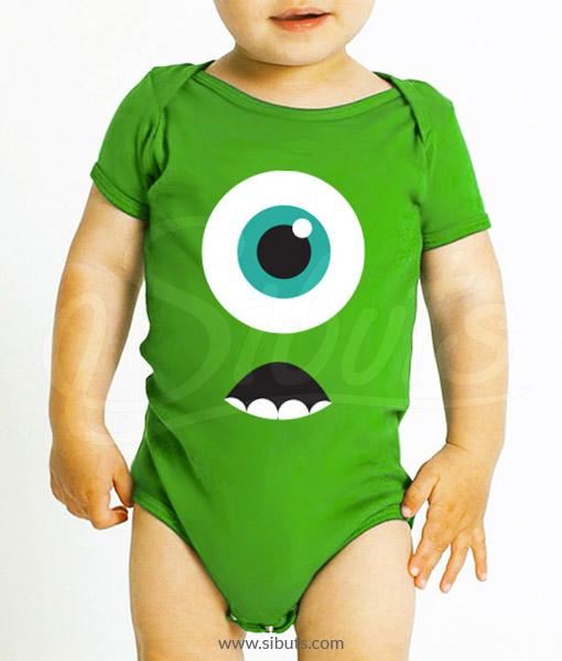 Pañalero verde bebé mike wazowski monsters